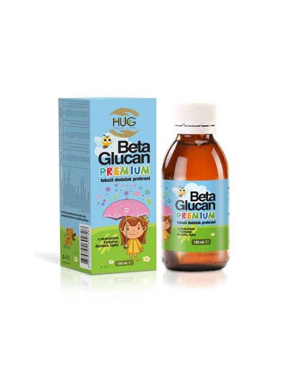 Hug Your Life Beta Glucan premium & C3 Complex tekući dodatak prehrani u tamnoj staklenoj bočici od 150 ml