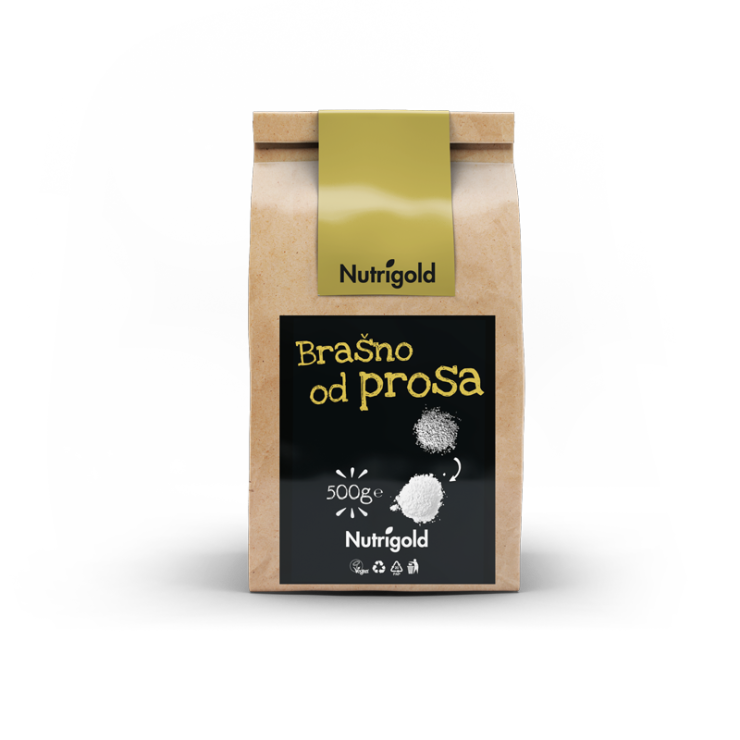 Nutrigold brašno od prosa u smeđoj ambalaži od 500 grama