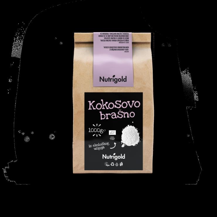 Nutrigold Kokosovo brašno - Organsko u smeđoj ambalaži 1000g