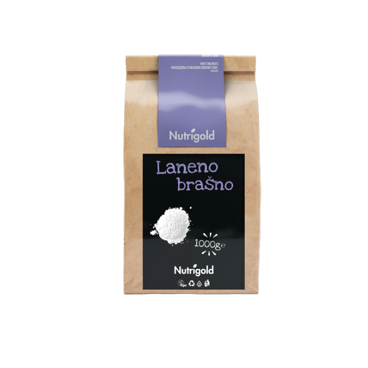 Nutrigold Laneno brašno  u smeđoj ambalaži 1000g