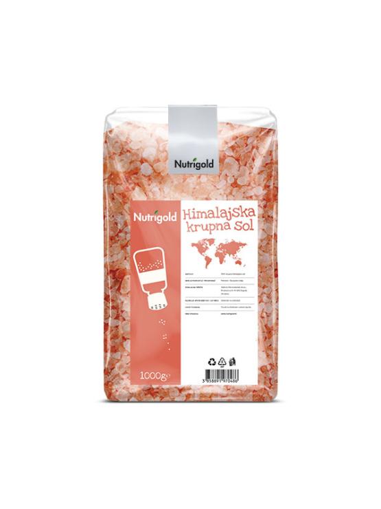 Nutrigold krupna himalajaska sol u prozirnoj, plastičnoj ambalaži.