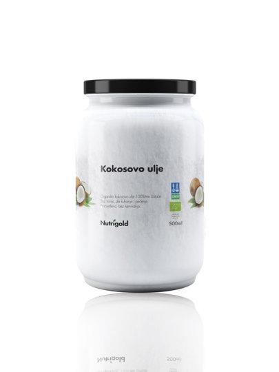 organsko kokosovo ulje bez mirisa u staklenci od  500ml Nutrigold