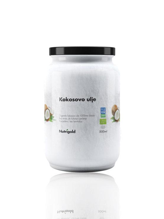 Nutrigold kokosovo ulje bez mirisa - organsko u staklenoj ambalaži 500ml