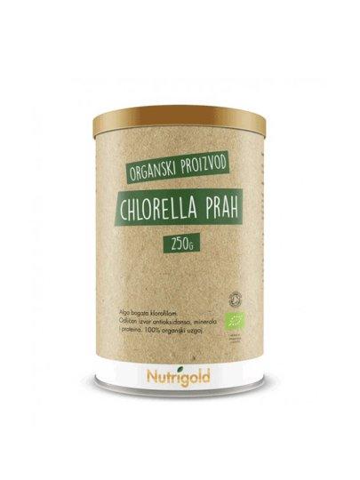 Organska Nutrigold Chlorella u prahu u posudi od 250 g