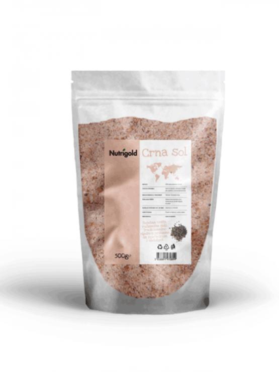 Nutrigold crna sol u prozirnoj plastičnoj ambalaži 500g