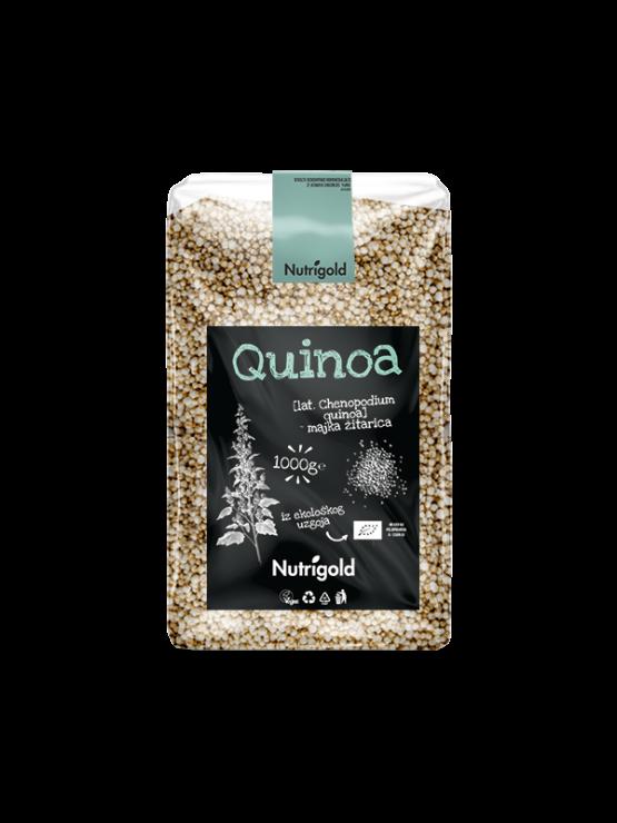 Nutrigold bijela quinoa/kvinoja royal u plastičnoj prozirnoj ambalaži od 1000 grama.