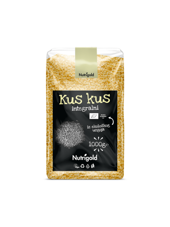 Nutrigold Kus kus integralni - Organski u prozirnoj plastičnoj ambalaži 1kg