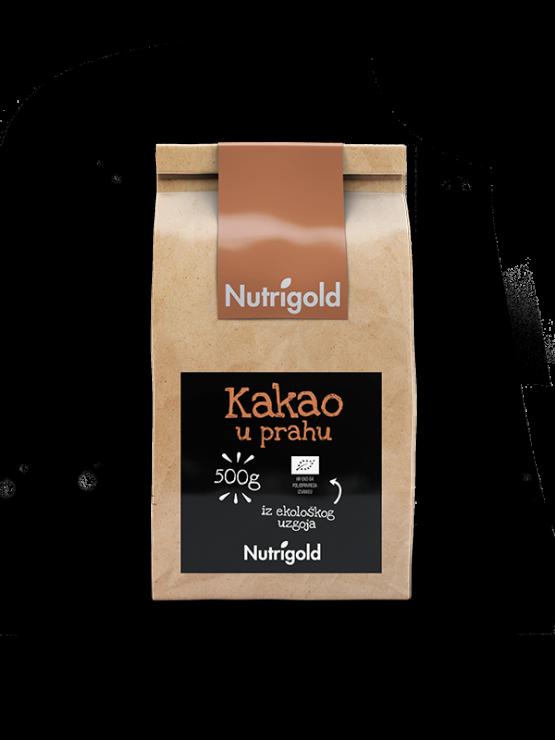 Nutrigold Kakao prah organski u smeđoj ambalaži 500 g