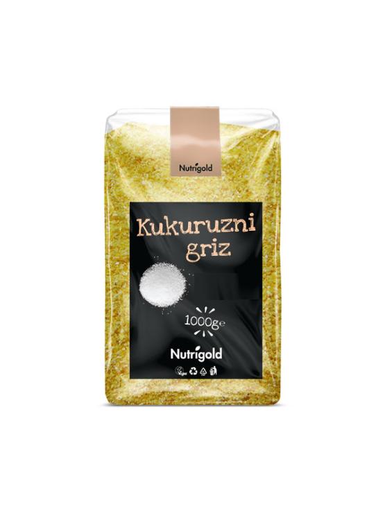 Nutrigold Kukuruzni griz - krupica u prozirnoj  plastičnoj ambalaži 1kg
