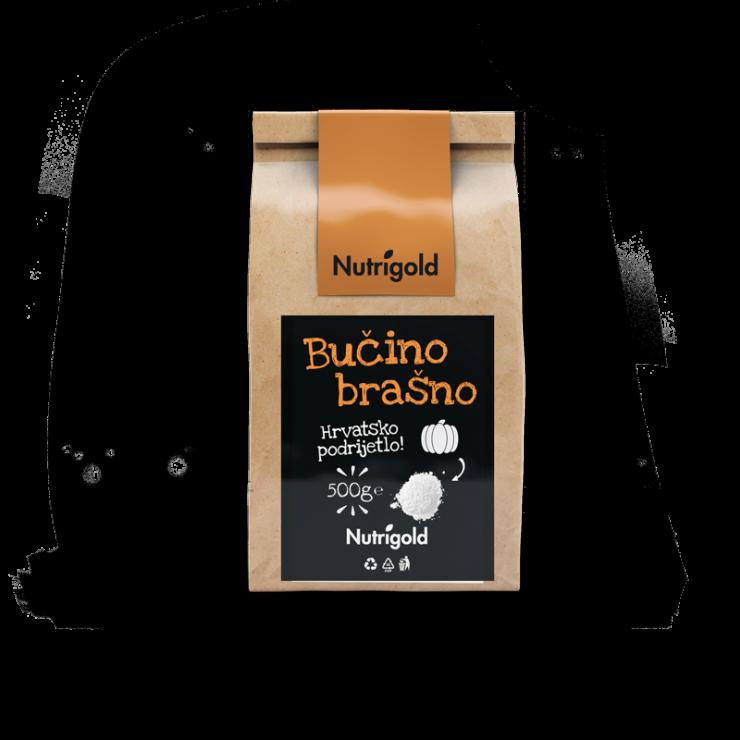Nutrigold brašno od sjemenki bundeve u smeđoj ambalaži od 500 grama
