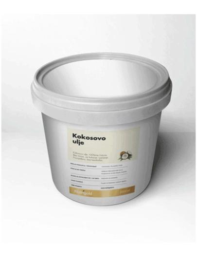 Kokosovo ulje bez mirisa u plastičnoj posudi od 2500ml Nutrigold