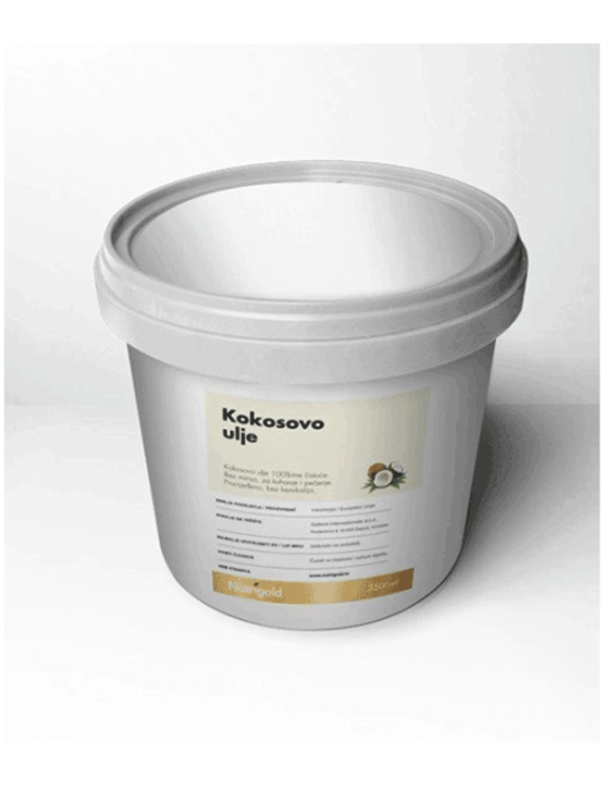 Nutrigold odourless coconut oil in a 2500ml container