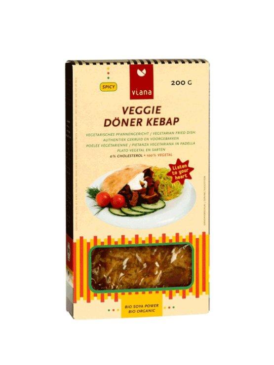 Viana organic veggie doner kebap in a cardboard packaging of 200g