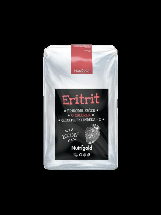 Nutrigold eritrit prirodni zaslađivač u prozirnoj plastičnoj ambalaži 1000g