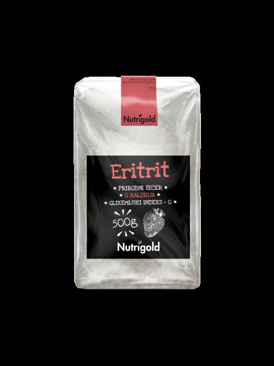 Nutrigold eritrit prirodni zaslađivač u prozirnoj plastičnoj ambalaži 500g