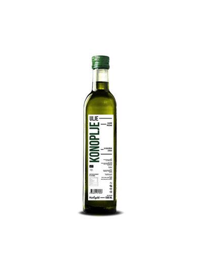 Organsko hladno prešano Nutrigold ulje konoplje u staklenoj ambalaži od 1000 mililitara