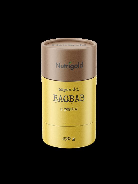 Organski Baobab prah u žutoj valjkastoj ambalaži od 250 grama