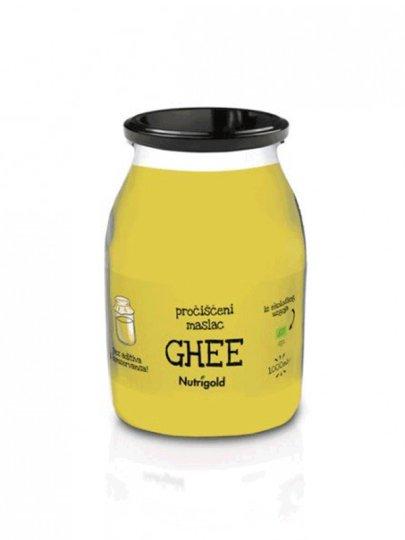 Organski Nutrigold Ghee maslac u žutoj staklenoj ambalaži od 1000 ml