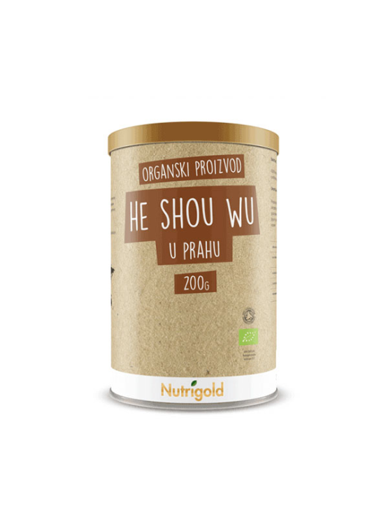 Nutrigold He Shou Wu u prahu u smeđoj ambalaži 200g