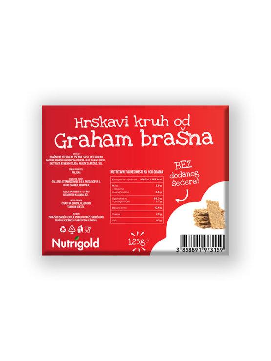 Nutrigold hrskavi kruh od grahama u prozirno plastičnoj ambalaži 125g