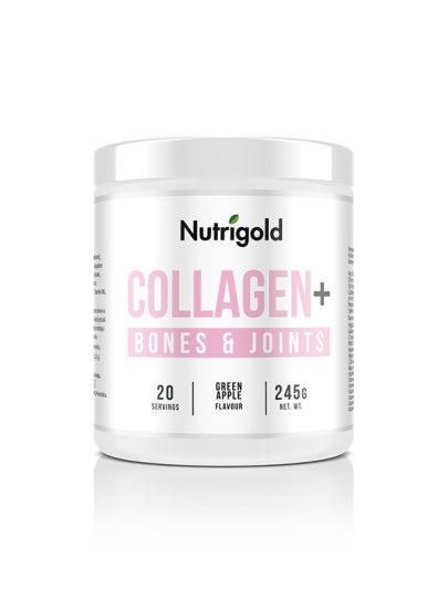 Collagen+ Bones and Joints - Za zdravlje kostiju Zelena jabuka 245g Nutrigold