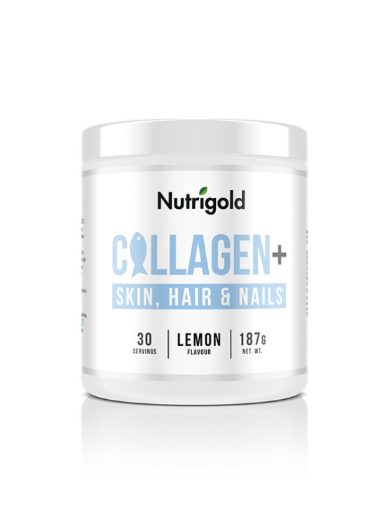 Collagen+ Skin,Hair and Nails - Za kožu, kosu i nokte - Limun 187g Nutrigold
