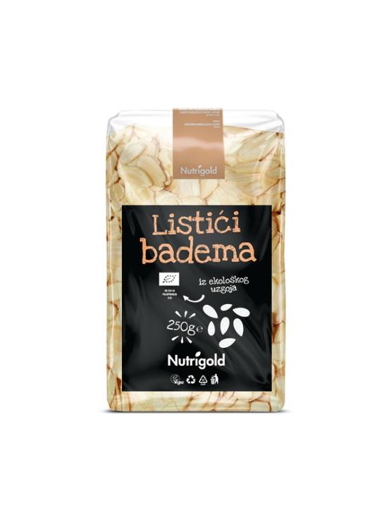 Nutrigold Listići badema - Organski u prozirnoj plastičnoj ambalaži 250g