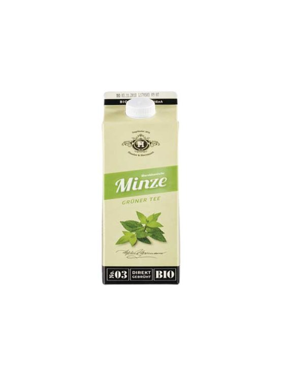 Tbottlers organic mint tea in a 1l beverage carton