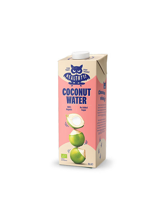 HealthyCo coconut water in colorful cardboard packaging of 1000ml