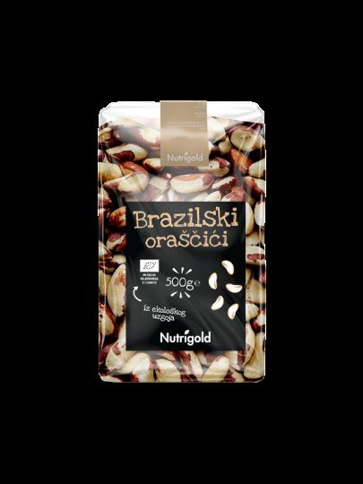 Organski Nutrigold brazilski orasi u plastičnoj prozirnoj ambalaži od 500 grama
