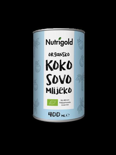 Nutrigold organsko, bez glutena kokosovo mlijeko u plavoj konzervi.