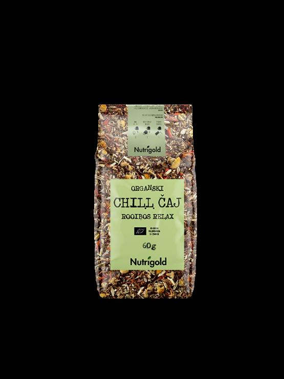 Nutrigold organski Chill Rooibos relax čaj u prozirnoj ambalaži od 60g