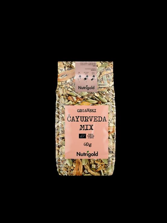 Nutrigold organski čayurveda čaj u prozirnoj ambalaži od 60g