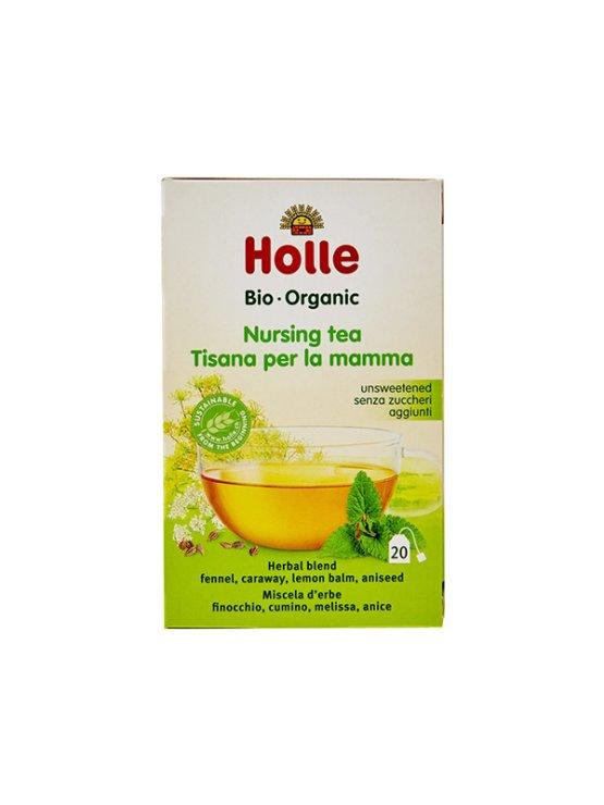 Organic Holle nursing tea in a cardboard packaging of 30g
