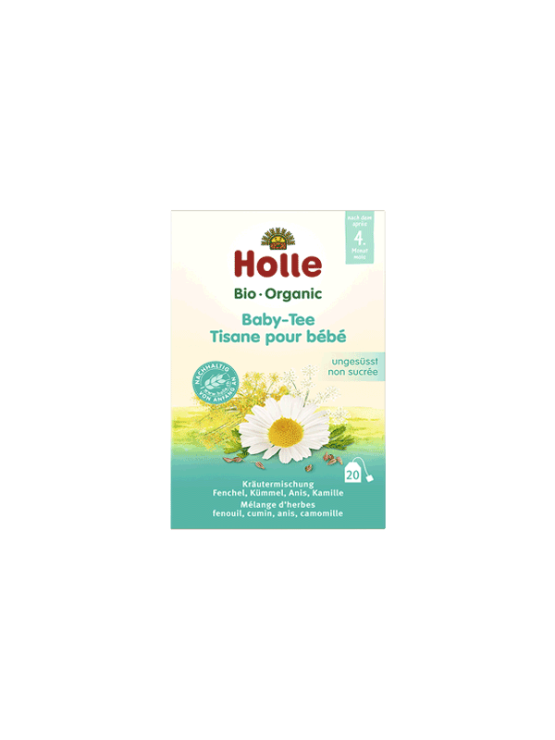 Organic Holle tea for babies in a cardboard packaging of 30g