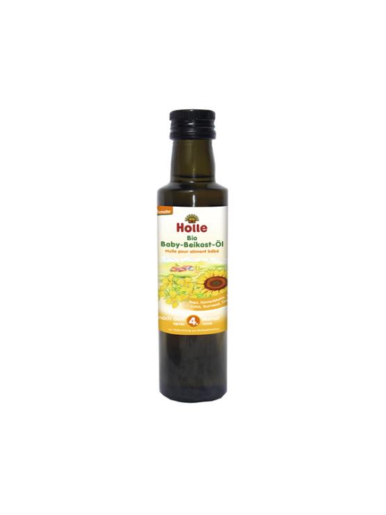 Organic Holle weaning oil in dark glass bottle of 250ml