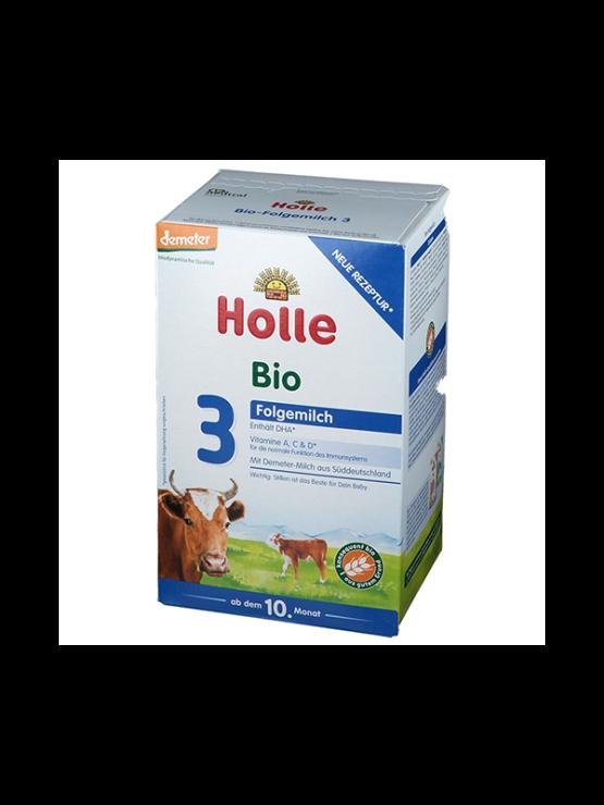 Holle infant follow on formula 3 in cardboard rectangular box