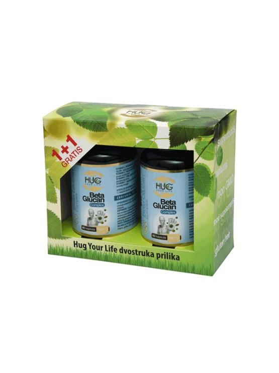 Hug Your Life (1+1) Beta Glucan premium & C3 Complex 120 kapsula u tamnoj ambalaži