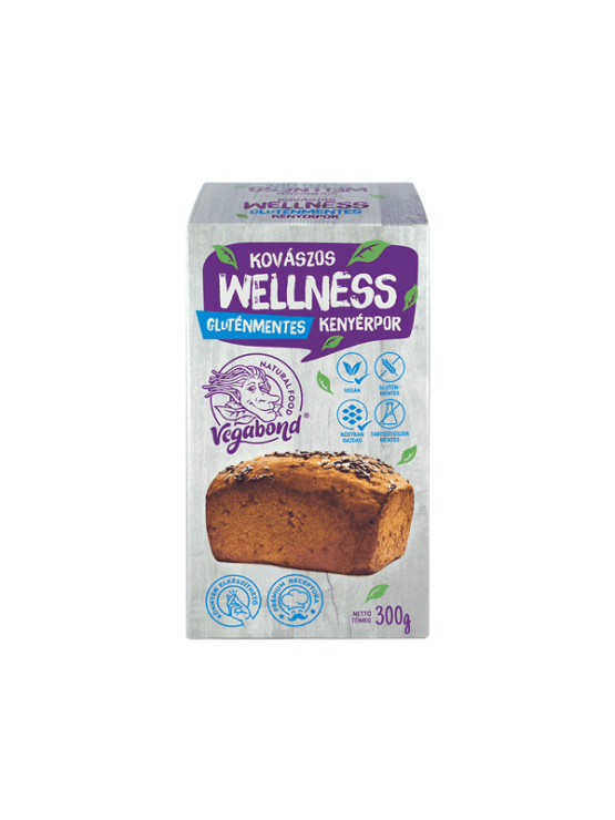 Vegabond whole grain & seed gluten free bread mix in a cardboard packaging of 300g