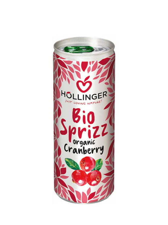 Organic sparkling cranberry juice in a can 250ml Hollinger