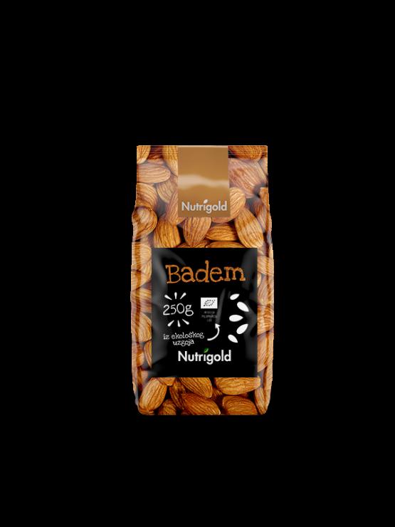 Nutrigold organski bademi u prozirnoj plastičnoj ambalaži od 250 grama