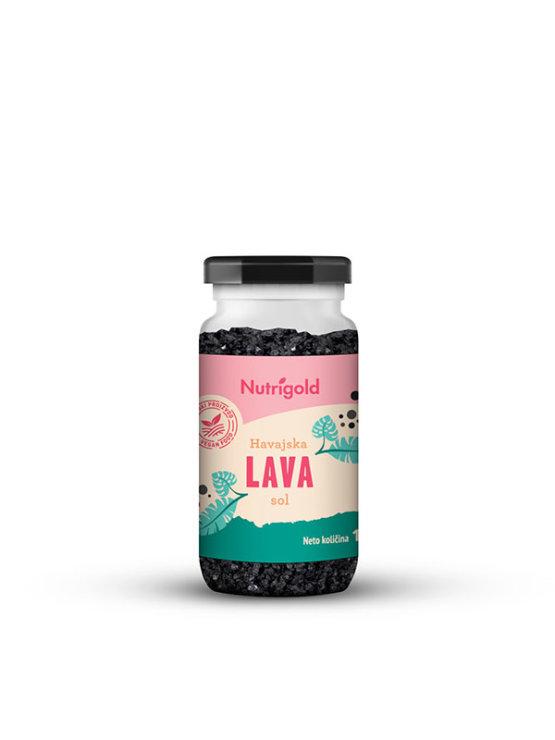 Nutrigold lava salt in transparent glass jar of 100g