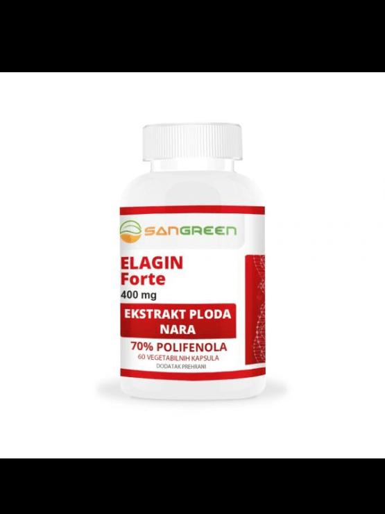 Sangreen Elagin forte 60 kapsula x 400 mg u bijeloj plastičnoj ambalaži