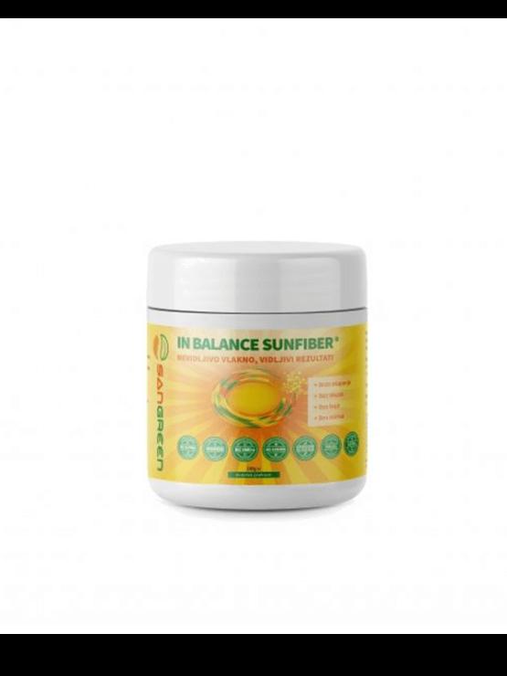 Sangreen In Balance Fiber prehrambena vlakna u bijeloj plastičnoj ambalaži od 180 g