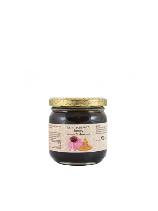 Echinacea honey in a glass jar of 250g