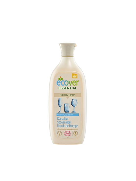 Ecover liquid rinse aid in recyclable packaging of 500ml