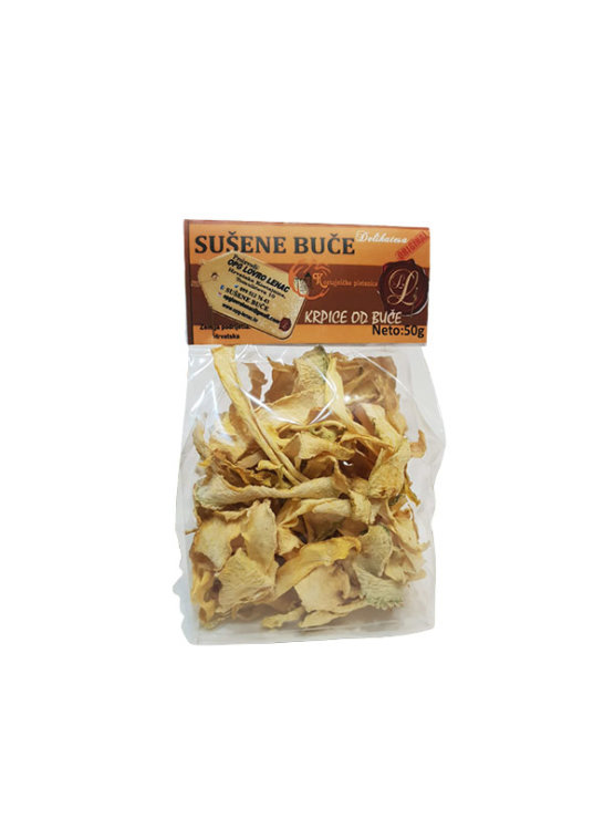Dehydrated pumpkin pieces in transparent bag of 50g - Lovro Lenac family farm