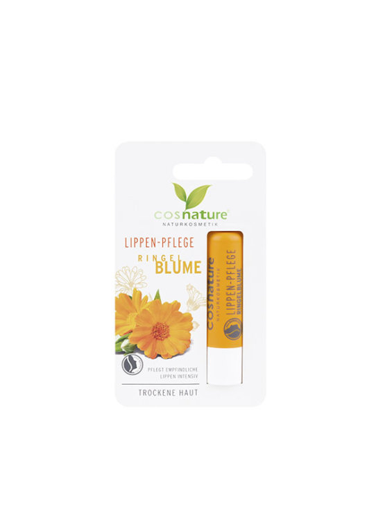 Cosnature lip balm with calendula and vitamin E in a plastic packaging of 4,8g
