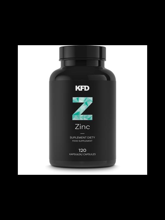 KFD Zinc 120 capsules in black plastic container