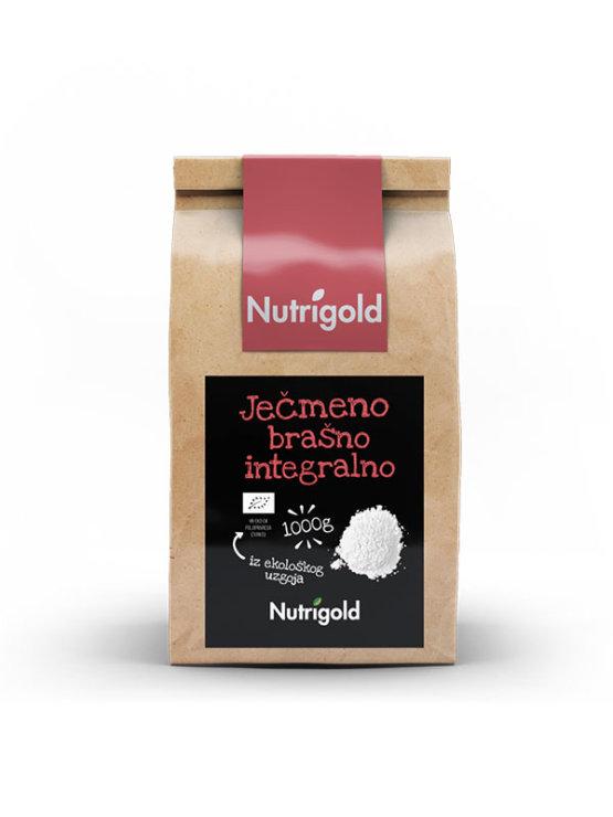 Nutrigold organsko ječmeno brašno u smeđoj ambalaži od 1000 grama